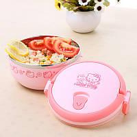 """Термос для еды """"Hello Kitty"""" 700 мл 1 отделения ланч-бокс пищевой Размеры: 14.5х9 см"""