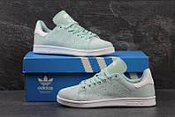 Жіночі замшеві кросівки Adidas Stan Smith м ята e5e24afdd7eb6