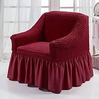 Чехол на кресло, бордо
