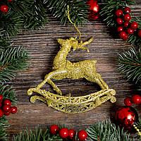 Новогоднее украшение Олень детский золото 0327