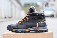 Мужские кожаные зимние ботинки 3220 Merrell черные