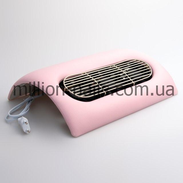 Вытяжка для маникюра 45W на 3 вентилятора, цвет розовый и бежевый.