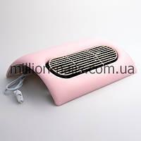 Вытяжка для маникюра 45W на 3 вентилятора, цвет розовый и бежевый., фото 1