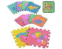 Игровой коврик пазлы – Мозаика «Веселая головоломка» Игровой коврик пазлы - фрукты овощи