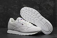 Мужские кроссовки Reebok Classic. Кожа. Белые