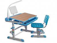Комплект парта и стульчик Evo-kids Evo-04 клен с лампой
