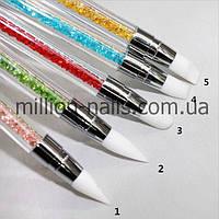 Набор силиконовых кистей для рисования ногтей, 5 шт