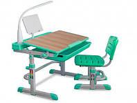 Комплект парта и стульчик Evo-kids Evo-04 клен XL с лампой