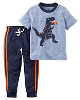 Набор штаны+футболка Carters на мальчика 2-5 лет Dinosaur Graphic Tee & French Terry Jogger Set