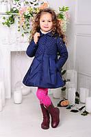 Весеннее Пальто на девочку «Малышка», джинс
