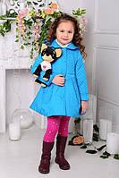 Весеннее Пальто на девочку «Малышка», голубое