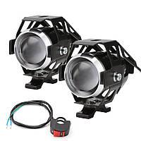 Фары для мотоцикла/прожекторы CREE U5 LED 12В 3000лм с кнопкой, черный цвет