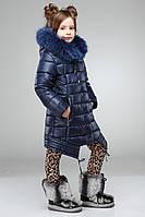 Модное пальто на зиму для девочки с натуральным мехом