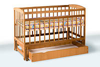 Деревянная кроватка-колыбель с ящиком 1В212-2