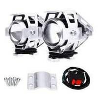 Фары для мотоцикла/прожекторы CREE U5 LED 12В 3000лм с кнопкой, серый цвет