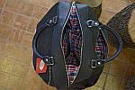 Кожаная сумка VS60  black 32х25х18 см, фото 6