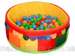 Сухой бассейн с шариками для дома Tia-Sport (100х40х5см). Кожзам.