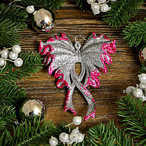 Новогоднее украшение Бант большой микс 0345, фото 3