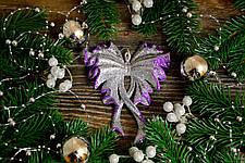 Новогоднее украшение Бант большой микс 0345, фото 2