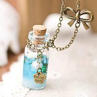 Стеклянная бутылочка мини для декора, объем 3мл