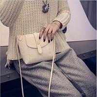 Женская сумка клатч через плечо сумочка белая