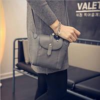 Женская сумка клатч через плечо сумочка серая