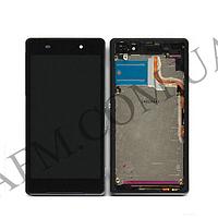 Дисплей (LCD) Sony D6502/  D6503 Xperia Z2 с сенсором черный + рамка оригинал