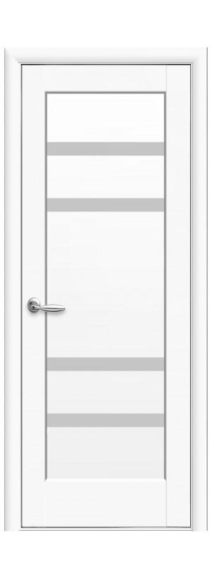 Двери межкомнатные Лея белый мат
