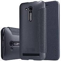 Кожаный чехол-книжка Nillkin Sparkle для Asus ZenFone Go (ZB452KG) черный