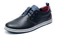 Туфли спортивные Levi's, мужские, натуральная кожа, темно-синие р. 40 41 42 43 44 45