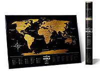 "Скретч мапа Світу ""Travel Map Black World"" (англ) (тубус)"