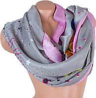 Стильный женский атласный шарф 184 на 92 см ETERNO (ЭТЕРНО)   ES1908-17-1 серый