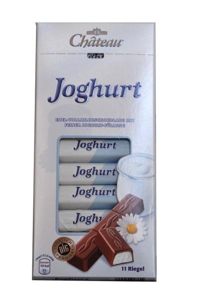 Немецкий шоколад Chateau Joghurt Riegel молочный с йогуртовой начинкой 200г.
