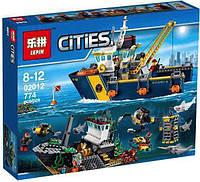 """Конструктор Lepin 02012 аналог LEGO City 60095 """"Корабль исследователей морских глубин"""", 774 детали"""