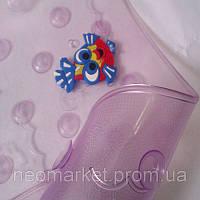 Детский антискользящий коврик на дно ванной прозрачный матовый Рыбки с массажными вставками