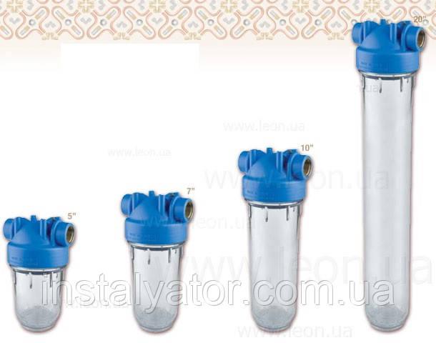 Колба проточного фильтра Atlas Filtri DP MONO TS OT, прозрачный стакан, для картриджей SX и BX