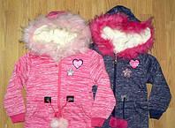 Пальто для девочек на меху 116,122