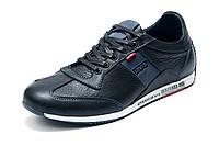 Туфли Levi's, мужские, натуральная кожа, спортивные, темно-синие, р. 42 43