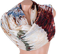 Стильный женский атласный шарф 186 на 84 см ETERNO (ЭТЕРНО)   ES1908-11-1 разноцветный
