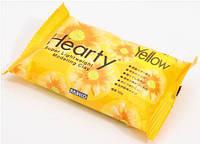 Пластика холодный фарфор Padico Hearty (Япония)самозатвердевающая для цветов,декора,желтая,  50 г