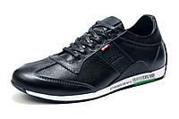 Туфли Levi's, мужские, спортивные, натуральная кожа, черные р. 40 41 42 43 44 45