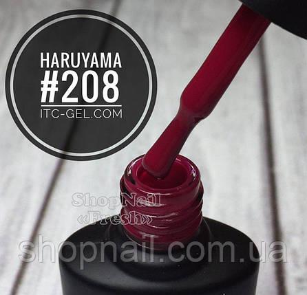 Гель-лак Haruyama №208 (темно-малиновый), 8 мл, фото 2