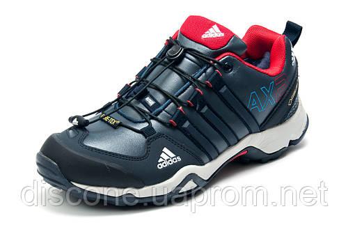Зимние кроссовки Adidas Terrex мужские, на меху, темно-синие