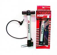 Насос напольный ручной для мячей, велосипедов KEPAI IT-8620 (пластик, l-30см)