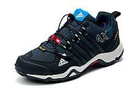 Зимние кроссовки Adidas Terrex мужские, на меху, черные синим, р. 41 42 43 44 45