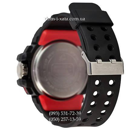 Электронные часы Casio G-Shock GWN-1000 Black-Red, спортивные часы Джи Шок черный-красный, фото 2