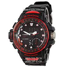 Электронные часы Casio G-Shock GWN-1000 Black-Red, спортивные часы Джи Шок черный-красный