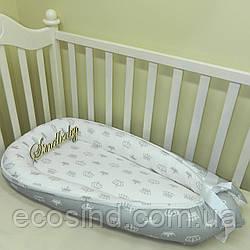 Гнездышко кокон позиционер для новорожденного BabyNest - 10