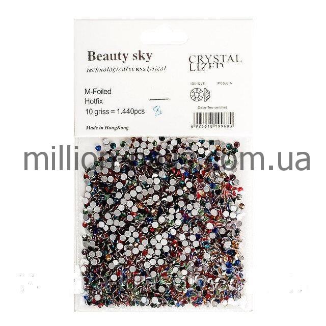 Цветные стразы для декора ногтей 1440 шт, одного размера №6