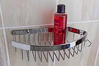 Полка прямая с крючком в ванную комнату (латунь/хром) Aviso